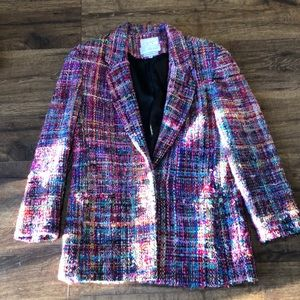 Vintage 100% hand woven silk jacket. Small